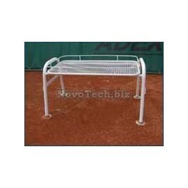 Stolek A-Tennis TEAM, kovový+komaxit, bílý