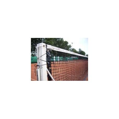 Tenisová síť PRO, PE, 3 mm, zelená, zdvojená, lem, výztuhy