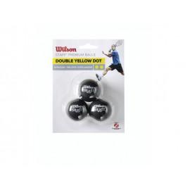 Wilson STAFF SQUASH 3 BALL DBL YEL