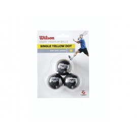 Wilson STAFF SQUASH 3 BALL YEL DOT
