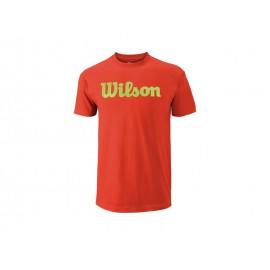 Wilson M Script Cotton Tee Fiesta/Gr