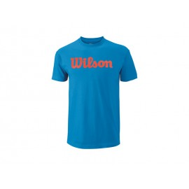 Wilson M Script Cotton Tee Blithe/Coral