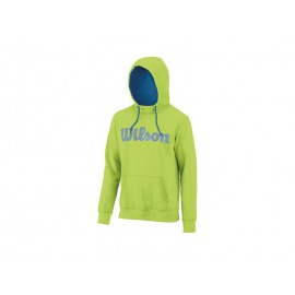 Wilson M Script Cotton Hoody GR/Deep Water