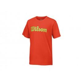 Wilson B Script Cotton Tee Fiesta