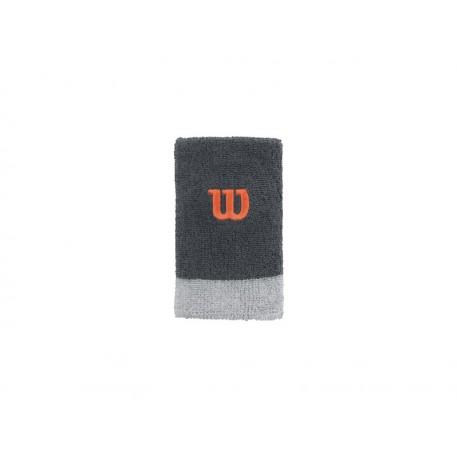 Wilson Extra Wide Wristband GREY/PEARL GRA