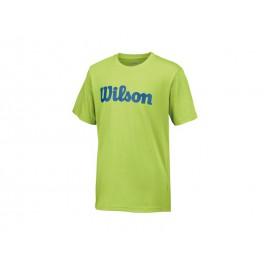 Wilson B Script Cotton Tee Green