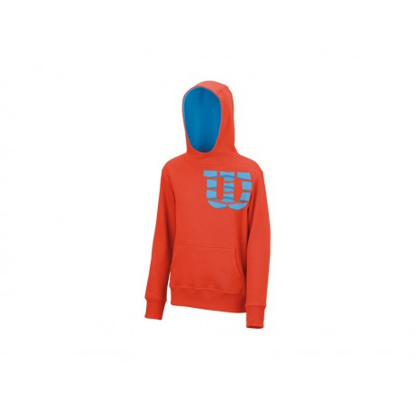 Wilson B Shoulder W Cotton Po Hoody Fiesta
