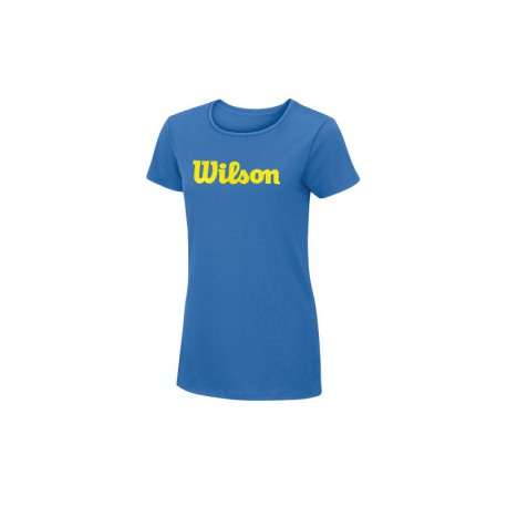 Wklson Script Cotton Tee Regatta