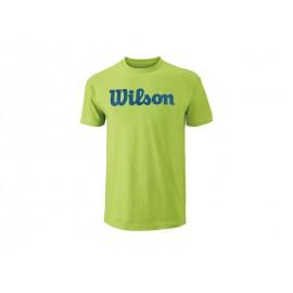 Wilson M Script Cotton Tee green