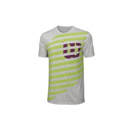 Wilson Lined W Tech Tee Heather