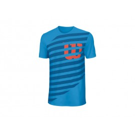 Wilson Lined W Tech Tee Blithe