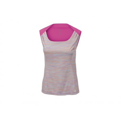 Wilson W Star Striated Tank Grey/Viol
