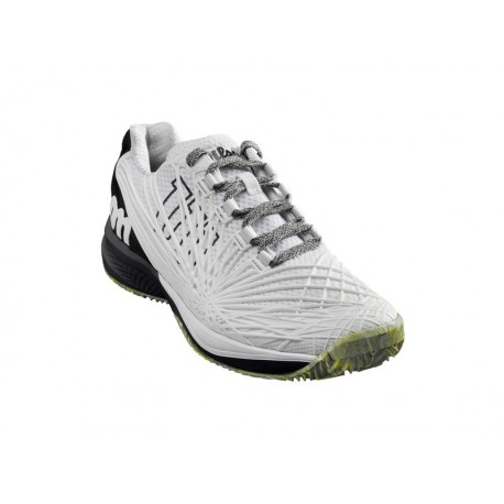 WILSON KAOS 2.0 CLAY COURT WH/BK/SAFETY YEL