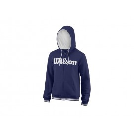 WILSON M TEAM SCRIPT FZ HOODY BLUE DEPTH/WH