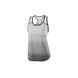 WILSON W TEAM STRIPED TANK BK/WH