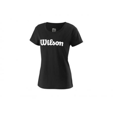 WILSON W UWII SCRIPT TECH TEE BK/WH
