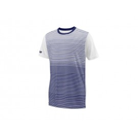 WILSON B TEAM STRIPED CREW BLUE DEPTH/WH