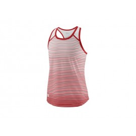 WILSON G TEAM STRIPED TANK RD/WH