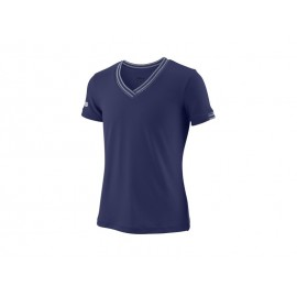 WILSON G TEAM V-NECK BLUE DEPTH