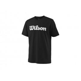 WILSON Y TEAM SCRIPT TECH TEE BK/WH