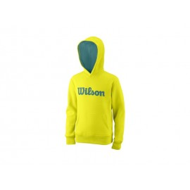WILSON Y SCRIPT COTTON PO HOODY SAFETY YEL/DEEP