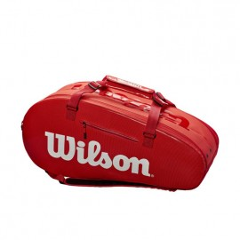 WILSON SUPER TOUR 2 COMP LARGE RED