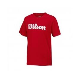 WILSON M UWII SCRIPT TECH TEE RD/WH