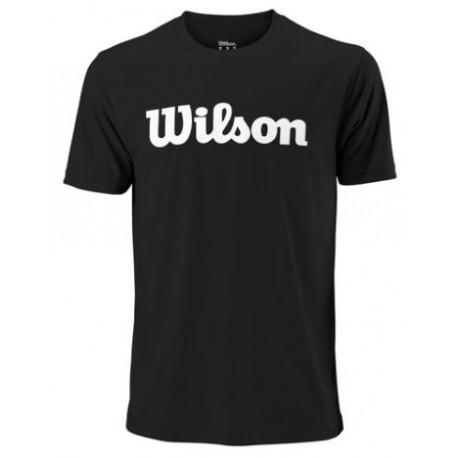 WILSON M UWII SCRIPT TECH TEE Bk/Wh