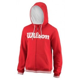 WILSON M TEAM SCRIPT FZ HOODY RD/Wh