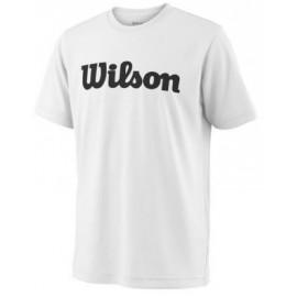 WILSON Y TEAM SCRIPT TECH TEE Wh/Bk