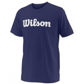 WILSON Y TEAM SCRIPT TECH TEE Blue Depth/Wh