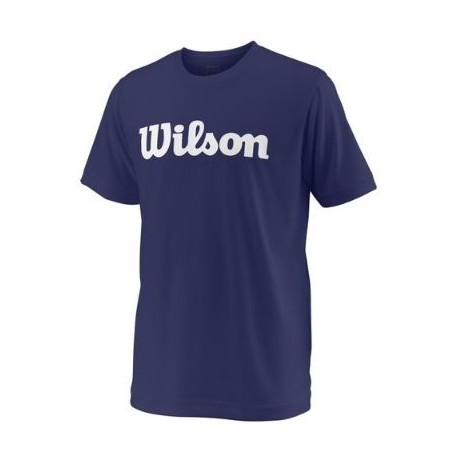 WILSON Y TEAM SCRIPT TECH TEE Blue Depth/Wh