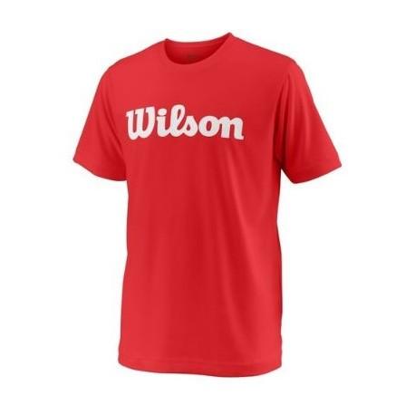 WILSON Y TEAM SCRIPT TECH TEE RD/Wh