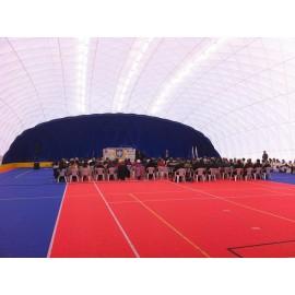 Nafukovací hala 20 x 40 m,florbal,badminton-stáří 2 roky
