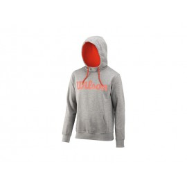 Wilson M Script Cotton Hoody Heather GR/FIES