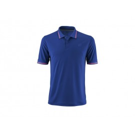 WILSON M STAR TIPPED POLO MAZ BLUE