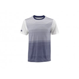 WILSON M TEAM STRIPED CREW BLUE DEPTH/WH