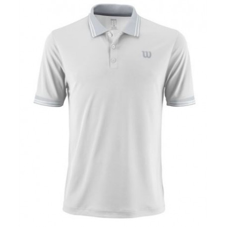WILSON M STAR TIPPED POLO Wh