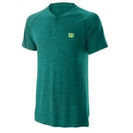 WILSON M COMPETITION SEAMLESS HENLEY Lagoon Gn