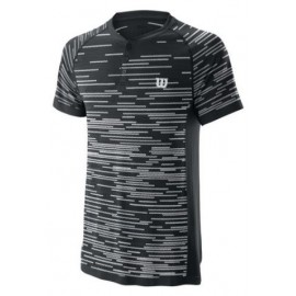 WILSON M COMPETITION SEAMLESS HENLEY Bk/Wh