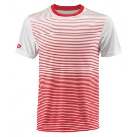 WILSON M TEAM STRIPED CREW RD/Wh