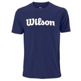 WILSON M UWII SCRIPT TECH TEE Blue Depth/Wh