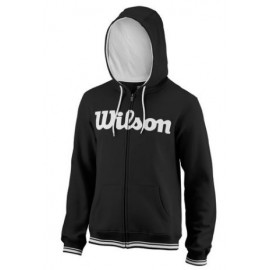 WILSON M TEAM SCRIPT FZ HOODY Bk/Wh
