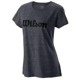 WILSON W SCRIPT TECH TEE II Ebony