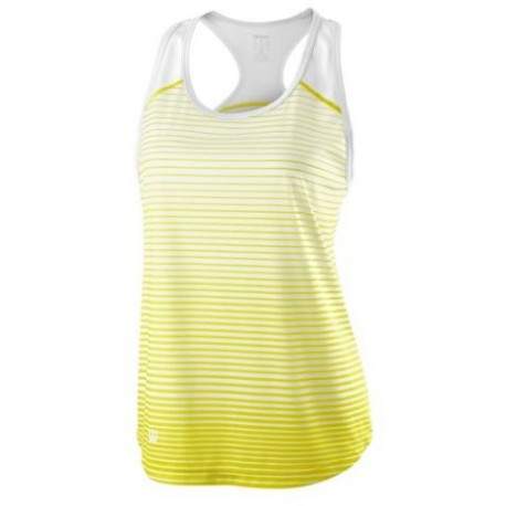 WILSON W TEAM STRIPED TANK Safety Yel/Wh