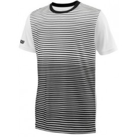 WILSON B TEAM STRIPED CREW Bk/Wh