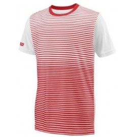 WILSON B TEAM STRIPED CREW RD/Wh