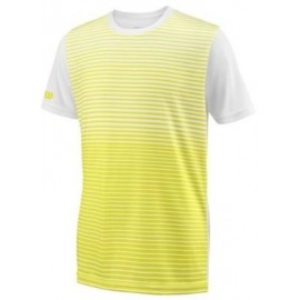 WILSON B TEAM STRIPED CREW Safety Yel/Wh