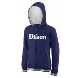 WILSON Y TEAM SCRIPT FZ HOODY Blue Depth/Wh