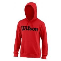 WILSON M SCRIPT COTTON PO HOODY RD/Bk